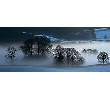 Panorama of Esthwaite in winter  Photographic Print