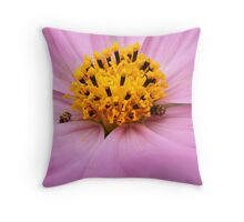 Beauty and the Bugs Throw Pillow
