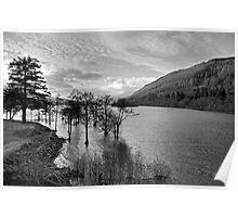 Loch Tay View - B&W Poster