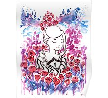 Thinking of Flowers Poster