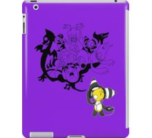 Music Demon Purple iPad Case (Black Outline) iPad Case/Skin