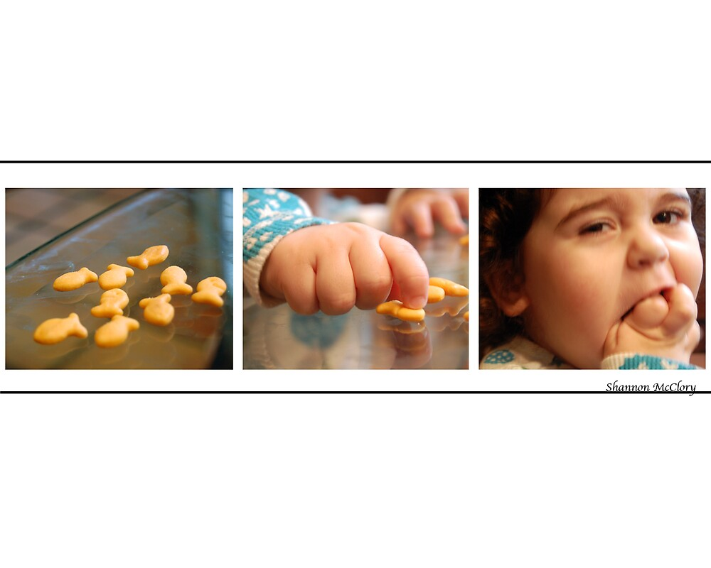 Snack Time- Mia eating goldfish by Shannon McClory