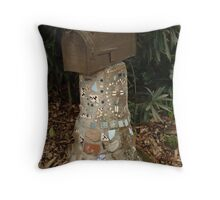 Mosaic Mail Box Stand! Throw Pillow
