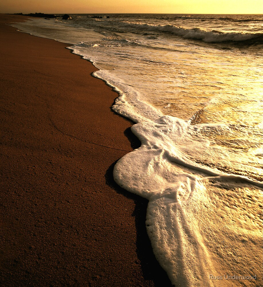 Strawberry Ranch Beach Foam by Russ Underwood