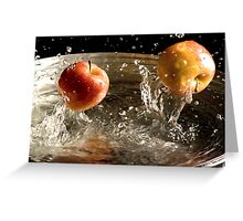 Jumping Apples Greeting Card