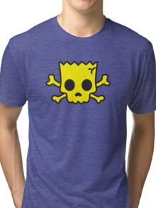 yellow Skull Tri-blend T-Shirt