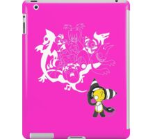 Music Demon (Pink with White Outline) iPad Case/Skin