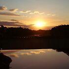 black river sunset by Richard Hardy