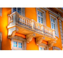 the guitar player balcony.... Photographic Print