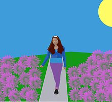 walking through a garden full of flowers  by eperez