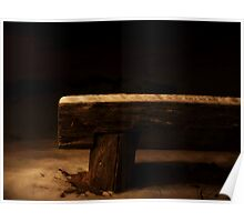 Empty bench in the darknes Poster