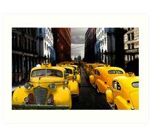 """taxi"" Art Print"
