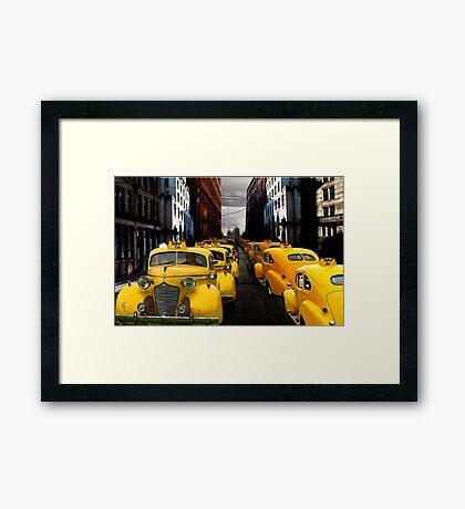 """""""taxi"""" Framed Print"""