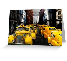 """taxi"" Greeting Card"