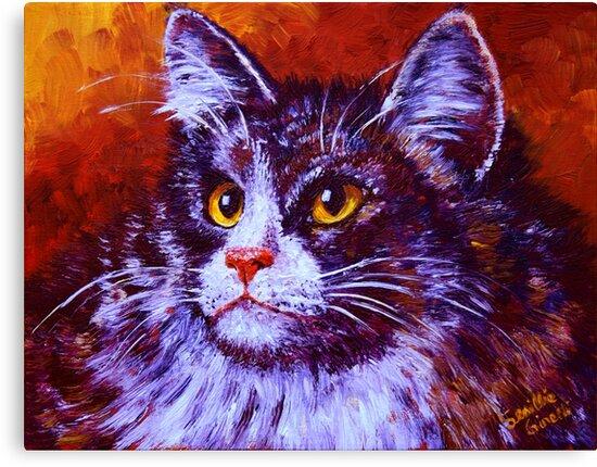 Longhair Cat by sesillie