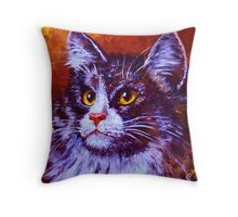 Longhair Cat Throw Pillow