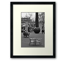 Empty Chairs At Empty Table Framed Print