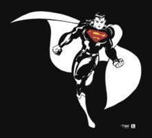 Supes black and white v2 by Lauren O'Keefe