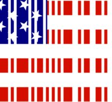 'MERICA Barcode USA Flag  Sticker