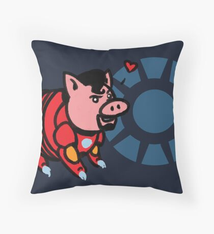Iron Ham Throw Pillow