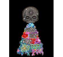 Make Art Not Barf Skull Rainbow Galaxy Illustration Photographic Print