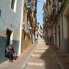 Villajoyosa street scene by Fay  Hughes