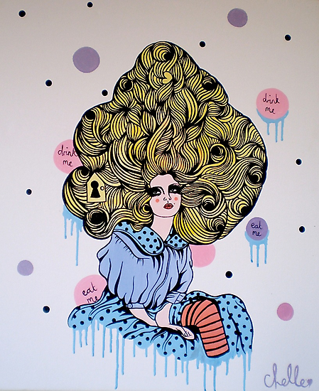 Alice Print by Chelle  Terry