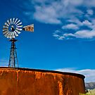 Rusty Tank & Windmill by sostroff