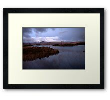 Lochan na h'Achlaise and the Blackmount Framed Print