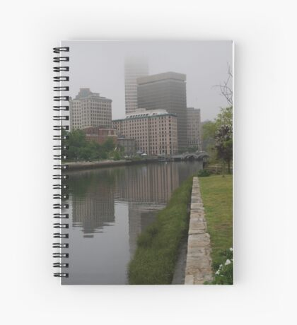 Foggy morning in Providence Spiral Notebook