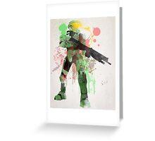 Master Chief, Halo Art Print Greeting Card