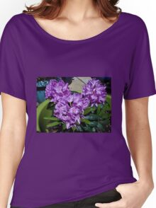 Sunlit Purple Rhododendron Blossoms Women's Relaxed Fit T-Shirt
