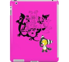 Music Demon Pink (Black Outline) iPad Case/Skin
