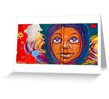 Valley Wall - Graffiti Face Greeting Card