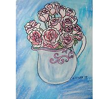 Pink Roses in a Jug Photographic Print