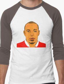 Red and White Men's Baseball ¾ T-Shirt