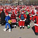 Santas in New York! by Christine  Wilson