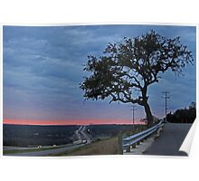 Country Road at Sunset Poster