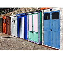 Beach Huts ~ Lyme Regis Photographic Print