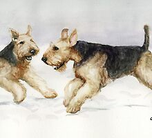 Dog Art by Charlotte Yealey by Charlotte Yealey