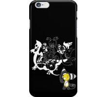 Music Demon (White Outline) iPhone Case/Skin