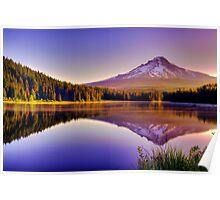 Dawn On The Hood - Mt. Hood, Oregon Poster