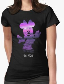 Minnie Mouse at Sunset Womens Fitted T-Shirt