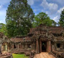 a historic Cambodia landscape Sticker