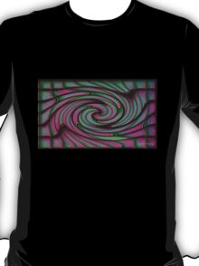Green and Pink Swirl #1 T-Shirt