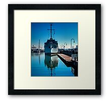 WW2 Minesweeper at anchor Framed Print