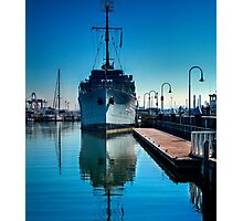 WW2 Minesweeper at anchor Photographic Print