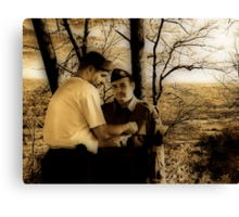 Joining The Band Of Brothers Canvas Print