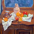 Still Life on Antique Wash Stand by Daniel Fishback