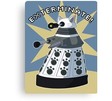 White Kitty Dalek Canvas Print